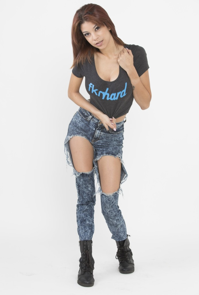 Brooke model fknhard Ripped Jeans