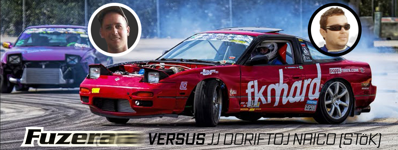 Allyson Fuzera Correa Versus JJ Naico Dorifto on the Drift track running tandems